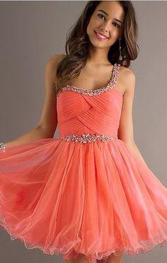 Orange Homecoming Dress Short Dresses | Orange Homecoming Dresses ...