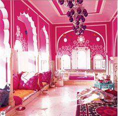 Jaipur home -- love the pink!