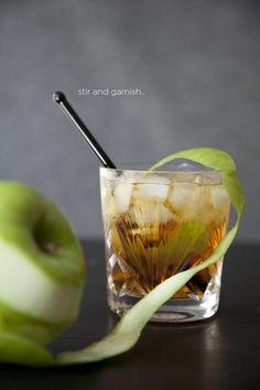 black apple cider cocktail recipe #rum
