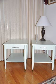 Reserved For Alliosn Pair Mid Century Mersman End Table/side Table With Drawer…
