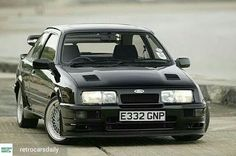 Ford Sierra Cosworth As a kid, I'd cut out any picture of these I could find from magazines and save them in a folder. Ford Rs, Car Ford, Ford Motor Company, Classic Motors, Classic Cars, Retro Cars, Vintage Cars, Mustang, Ford Sierra