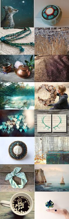 I'm Going to Love You Teal the Stars Fall From the Sky by Rose Baker on Etsy--Pinned with TreasuryPin.com