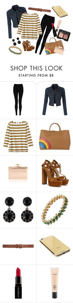 """""""I made this with my eyes closed"""" by worthen-ava on Polyvore featuring M&S Collection, LE3NO, Toast, Anya Hindmarch, Givenchy, Dorothy Perkins, Goldgenie, Smashbox, MAC Cosmetics and NARS Cosmetics"""
