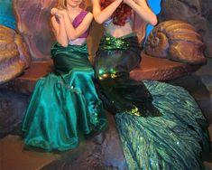 Robe de princesse Ariel la petite sirène faite maison (DIY). Costume pour Walt Disney World.