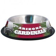 Arizona Cardinals Stainless Steel Pet Bowl
