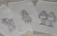 alice and friends muslin bags - on etsy