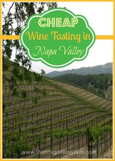 Cheap Wine Tasting in Napa Valley, Coupons and great stops to take in Napa Valley on the cheap!