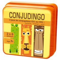 Conjudingo est l'outil pratique et ludique pour assurer toutes les conjugaisons du programme de CE1.