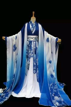 Gorgeous Chinese Fairy Princess Empress Queen Cosplay Costumes Ancient Chinese Clothing Complete Set for Women Pretty Outfits, Pretty Dresses, Cool Outfits, Doll Style, Kleidung Design, Mode Kimono, Traditional Dresses, Traditional Chinese, Traditional Kimono
