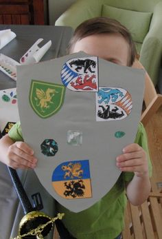 Decorate your own shield - I could cut out some Lions, Dragons, Crowns with Silhouette, then they can choose, add stickers, etc
