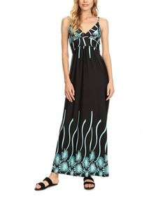Another great find on #zulily! Mint Floral Fitted-Bodice Maxi Dress - Plus Too #zulilyfinds