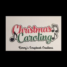 A personal favorite from my Etsy shop https://www.etsy.com/listing/480258241/christmas-caroling-scrapbook-title