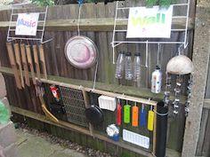 Pre-school Play: Outdoor Music Wall