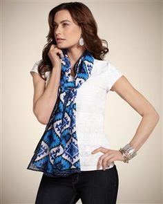 Chico's Crafted Coast Scarf #chicos