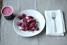 Roasted Beet Salad with Fresh Herbs, Feta and Pine Nuts