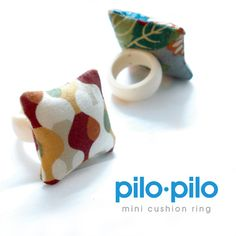 Haha! Mini pillow rings to cushion your chin while you contemplate your genius.