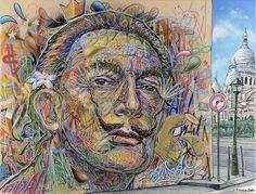22 street-artistes s'invitent chez Dali à Montmartre, jusqu'au 15 mars 2015 : détonnant. Salvador Dali avait le gôut de la provocation, il voulait être populaire mais aussi libre. Il aimait utilis... (Gracias Cat)