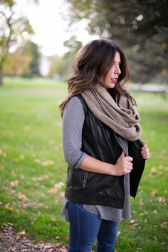 The Collaboration Blog: Leather and Layers > Forever 21 > Michael Kors > DSW > Inspyre Boutique > Buffalo Exchange  Leather, Jeans, Beanie, Scarf   Fashion Fall