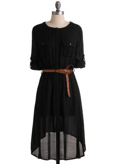 Comfy dress.  Spend all day in it---with leggings, boots and a floppy hat!  Paired w/ a bright-colored long sleeve duster cardigan :)