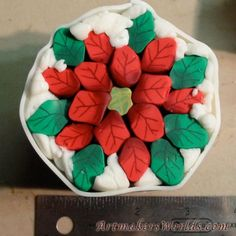 Polymer Clay Smooshers: How To Make a Polymer Clay Poinsettia Cane by Artmakers Worlds