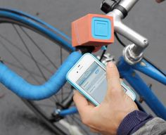 want to listen to music on your bike without the risk of getting run over? SleekSpeak bike speakers $69