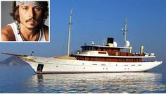 Johnny Depp's 156 foot Vajoliroja, with its squared, wood cabin… wood everything for that matter. It was fashioned with vintage wood, gold, and velvet 'Orient Express' style interior. The ship was made to transport Depp and his family to his private island in the Bahamas