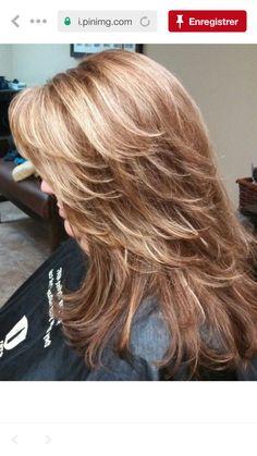 Haircuts Long Layered Hair, Medium Layered Hairstyles, Layered Haircuts, Choppy Layers For Long Hair, Long Shag Hairstyles, Medium Hair Styles, Curly Hair Styles, Caramel Blonde, Long Shag Haircut