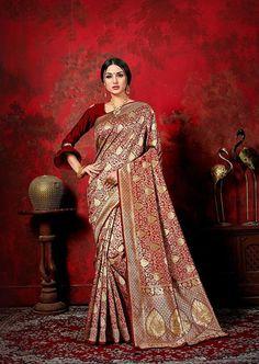 Indian Saree Ideas for Durga Puja - Latest Indian Saree, Indian Sarees Online, Buy Sarees Online, Blouse Online, Kota Silk Saree, Soft Silk Sarees, Chiffon Saree, Sari Blouse, Maroon Saree
