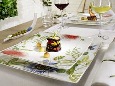 The unique Amazonia tableware collection is a journey of discovery into the exotic beauty of nature. Find out more at http://vibo.info/amazoniasm