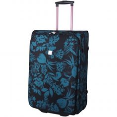 Tripp Teal/Black Express Autumn Flower Medium Suitcase £140.00 www.tripp.co.uk