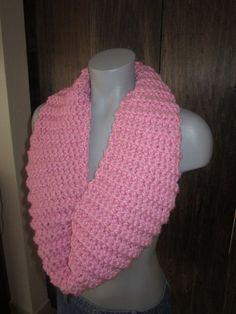 Pink Valentines day infinity scarf by Crochetawayyy on Etsy, $20.00