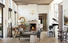 See How Bobby McAlpine Transformed a Napa Valley Home Into a Refined Haven - Architectural Digest House Design, House, Home Decor, Rustic Living Room Design, House Interior, Interior Design, Great Rooms, Architectural Digest, Living Room Designs