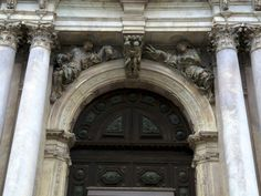 Venice:  Gallerie dell'Accademia, detail of Door