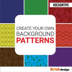 Create Your Own Background Patterns Make A Color Palette, Make Color, Graphic Design Tips, Web Design, Logo Design, Create Your Own Background, Friends Font, Visual Hierarchy, Online Logo