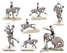 "Inspired by yesterday's Movements That Aren't in the New FEI Dressage tests, But Should Be"" post, several readers volunteered to show us their own horse. Funny Horse Memes, Funny Horses, Horse Drawings, Animal Drawings, Fox Lake, Horse Cartoon, Dressage Horses, Horse Quotes, Horse Pictures"