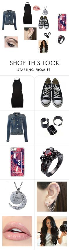 first day of school by brittrolon on Polyvore featuring Balmain, Tommy Hilfiger, Converse, Casetify, Otis Jaxon and Mehron