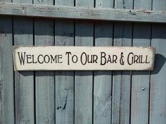 Bar and grill sign, outdoor patio,man cave, Fathers Day on Etsy, $20.97 CAD