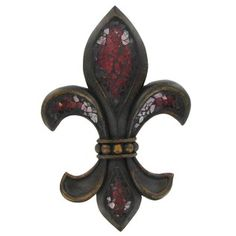 Red & Gold Fleur-De-Lis Wall Plaque | Shop Hobby Lobby