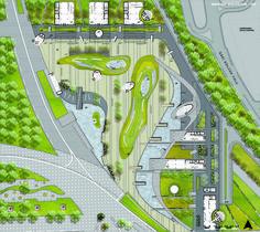 Urban Design Project for Izmit Shoreline / Ervin Garip,open site plan