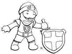 Ausmalbild Malvorlage Als Einladungskarte Zur RitterParty Kindergeburtstag Ritter