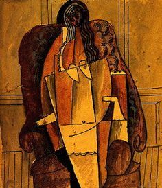Pablo Picasso - Study for painting of Eva Gouel, 1914.
