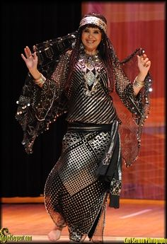 Leila Haddad - at Rakkasah, photo by Carl Sermon presented on Gilded Serpent.
