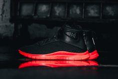 Nike Free Hypervenom Mid Black/Hot Lava