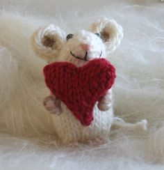 Hand Knit mouse from Viola Sue Knits on Etsy