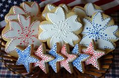 4th of July cookies by The Tailored Cookie