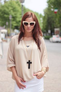 INTO THE GROOVE, Designer Fashion Oversize Cat Eye Sunglasses 8300