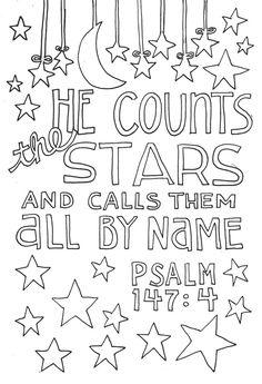 Ps 147.4 Bible  Art  Journaling  Doodles