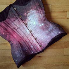 M16 Galaxy Nebula Galaxy Corset Cosmos tightlacing door RetroFolie