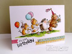 Penny Black Card by Cathy Fong