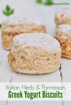 Whole grain, Greek yogurt, and plenty of herb seasoning make these biscuits light, delicious, and 100% kid-approved!